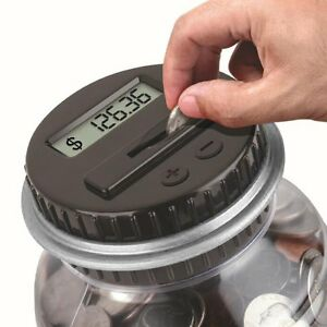 Image Is Loading Electronic Digital Coin Counter Automatic Money Counting Jar
