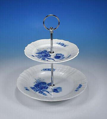"""Royal Copenhagen /""""Blaue Blume glatt/"""" Etagere 3-stufig"""