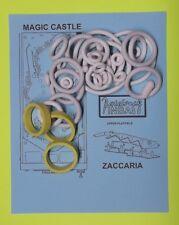 1984 Zaccaria Magic Castle pinball rubber ring kit
