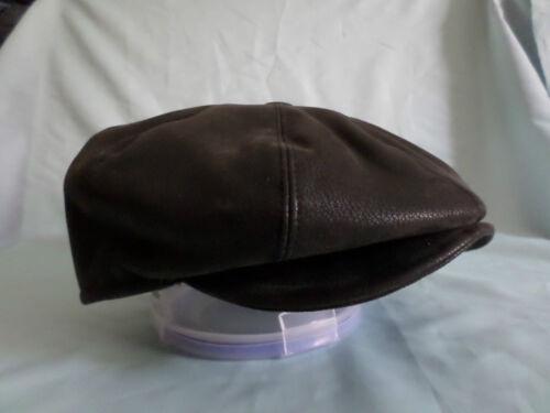 IN FINTA PELLE NERA 1920,S 1930,S VITTORIANO EDOARDIANO DA PEAKY BLINDERS CAP