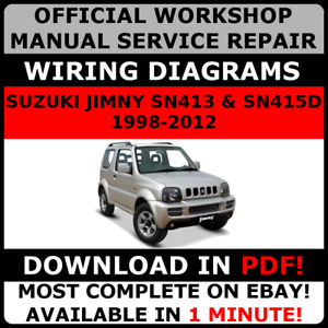 official workshop repair manual for suzuki jimny 1998 2012 ebay rh ebay com au Service Station suzuki jimny m13a workshop manual