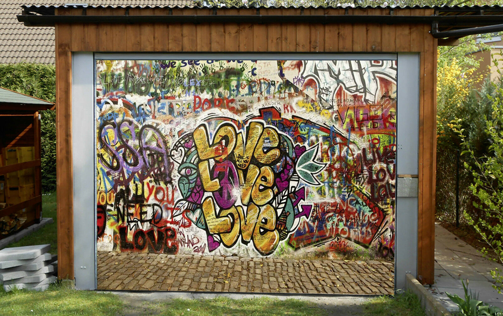 3D Street Graffiti Garage Door Murals Wall Print Decal Wall Deco AJ WALLPAPER IE