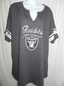 official photos 375ab b74fd Details about Oakland Raiders Women's Majestic Plus Size Shirt