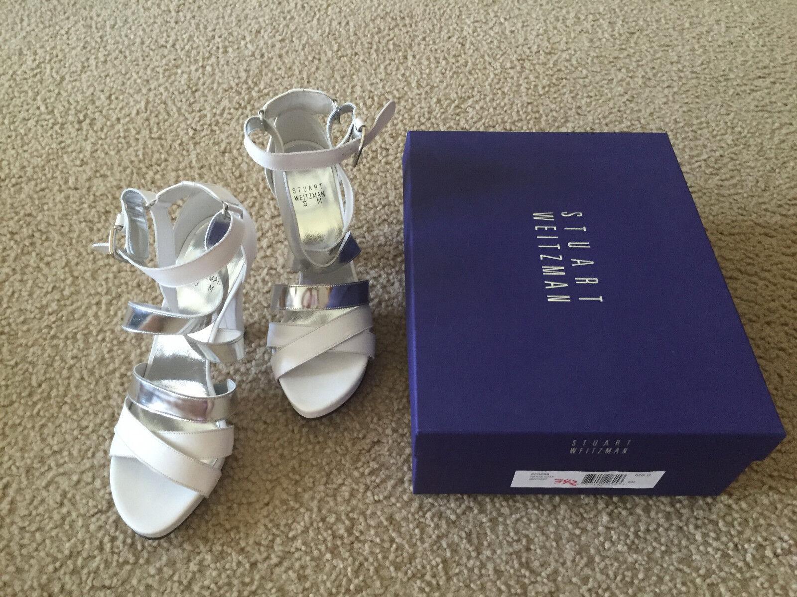 NIB Stuart Weitzman Weitzman Weitzman Excess platform white calf sandal 6.5 7 7.5 8 8.5 c2ee1e