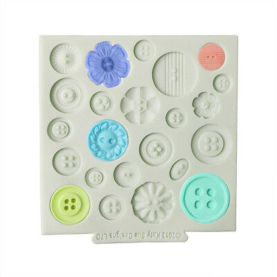 3D Silicone Button Fondant Cake Mold Chocolate Baking Sugarcraft Decorating Tool