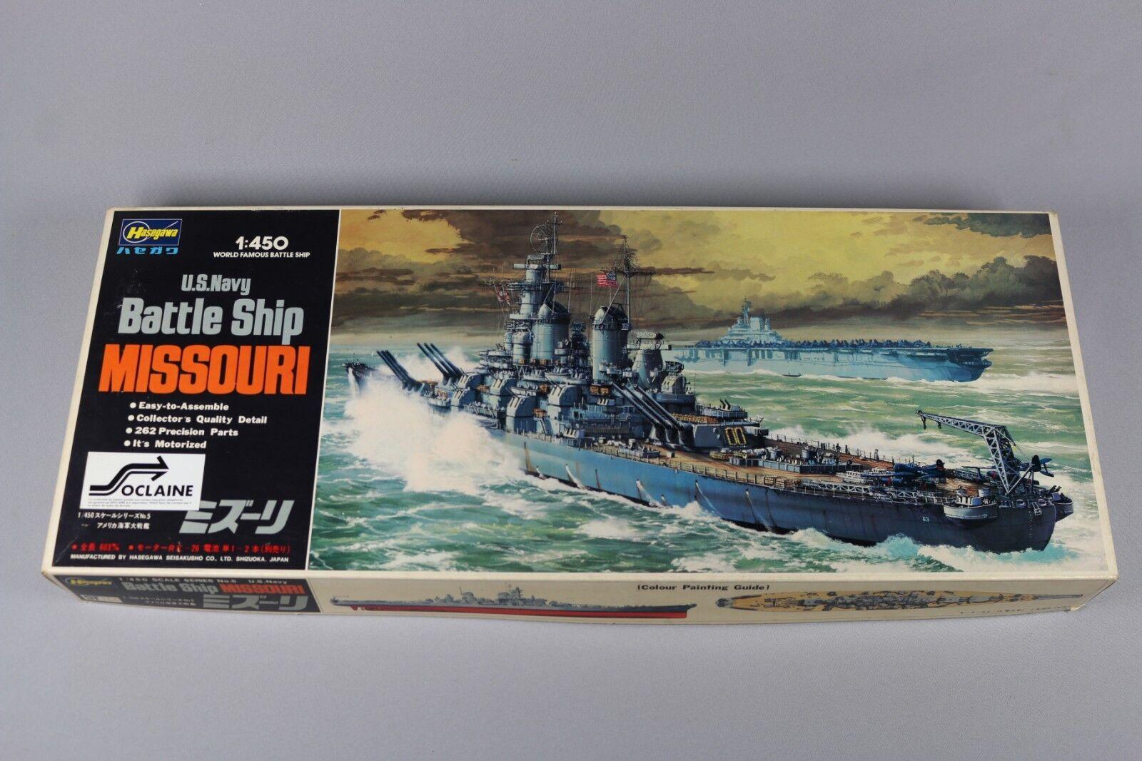 Zf041 Hasegawa 1 450 Maqueta Barco 40005 Z5 Us Navy Battle Ship Missouri 1980