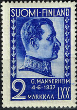 Finland pre WW2 Famous Field Marshal Mannerheim stamp 1937 MNH