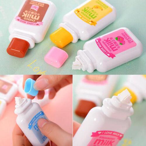 Rodillo de la botella de leche White Out School Papelería cinta de corrección