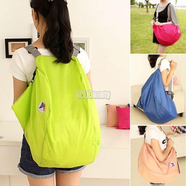 Multifunction Leisure Korean Folding Nylon Shoulder Cross Bag Schoolbag Backpack