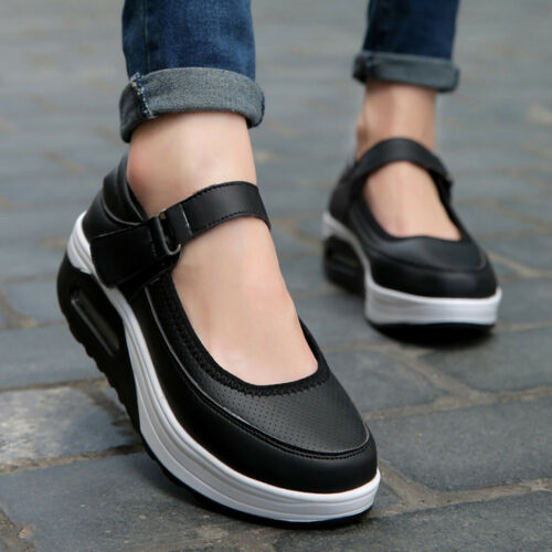 Details about  /Spring Casual Shoes Woman Platform Flat Thick Sole Loafers Moccasins Swing Shoes