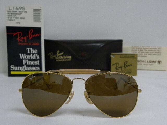 76c5c9b6176 New Vintage B L Ray Ban Outdoorsman Driving Arista B15 TGM L1695 58mm USA  NOS