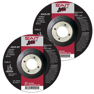 "42 SAIT Type 27 Ultimate Cut 6/"" x .045 THK x 7//8/"" Arbor Cutting Wheels QTY 10"