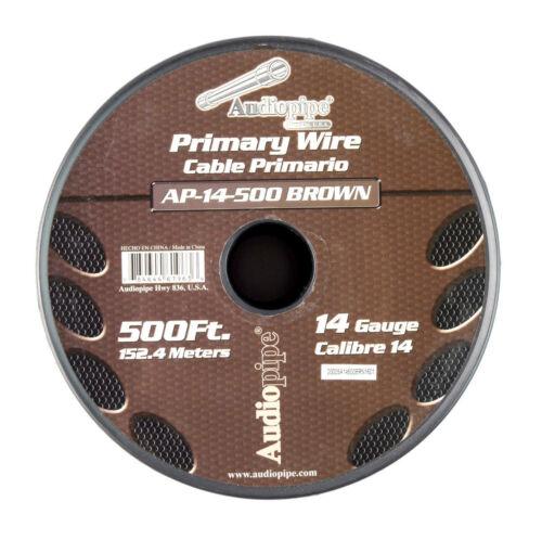 14 GA 500/' Brown Audiopipe Car Audio Home Primary Remote Wire