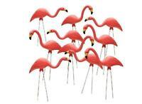 10-qty 27 In. Pink Flamingos Plastic Yard Garden Lawn Art Ornaments Decorations