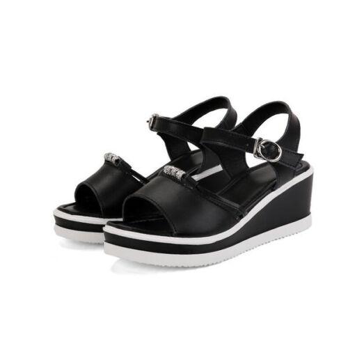 comode come Sandali 6 Eleganti con zeppa Sabot 9804 cuoio nere il pantofole 08xgH0