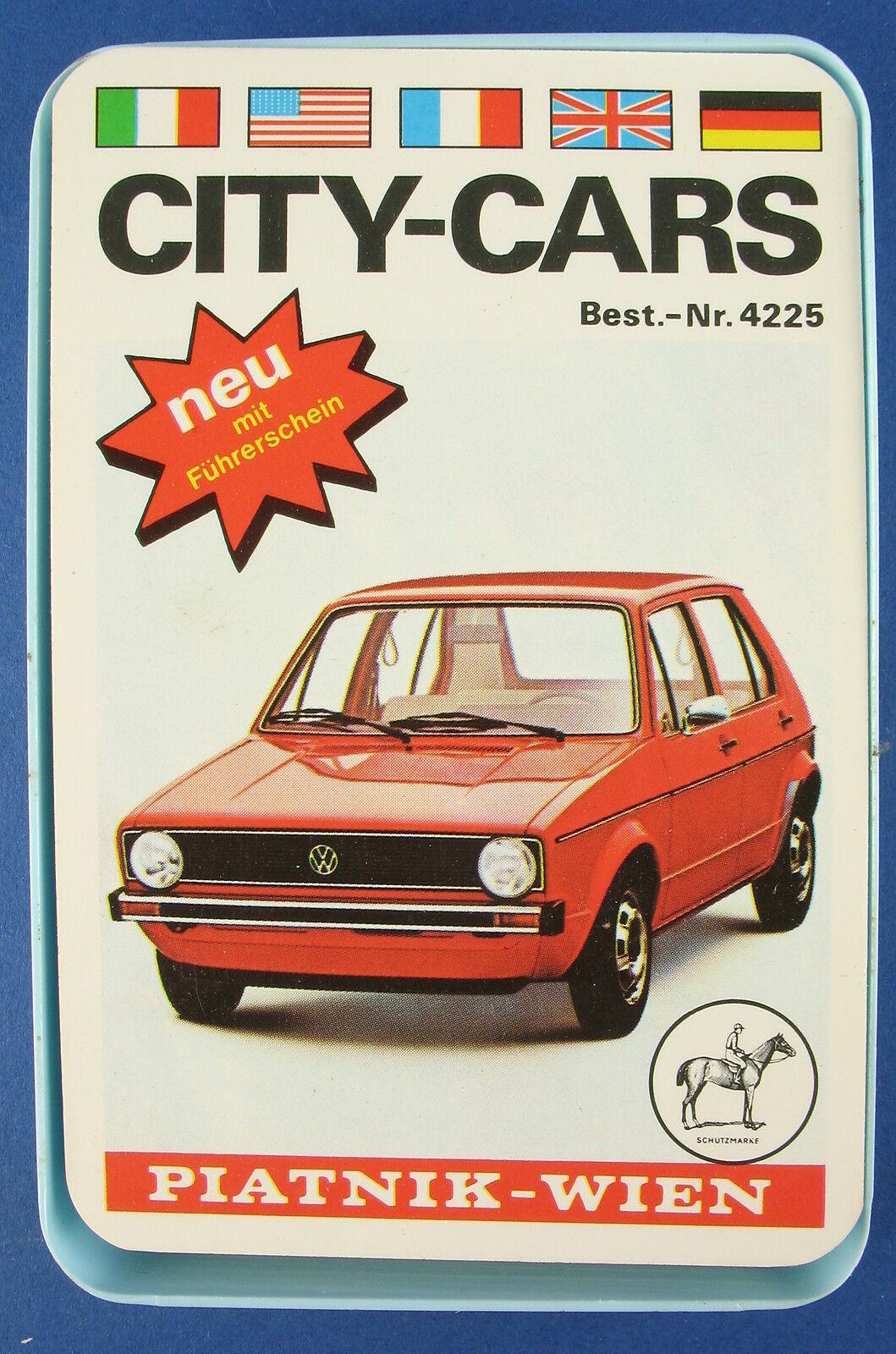 Quatuor-City-Cars  permis de conduire-Piatnik nº 4225 - 1975-Voiture jeu de cartes