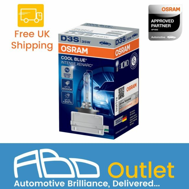 D3S Osram Xenarc Cool Blue Intense Up To 6000K Xenon HID Headlight Bulb DUO BOX