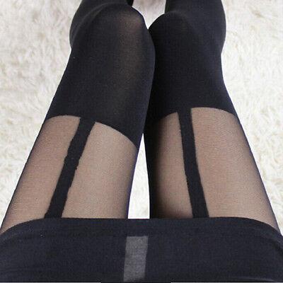 HOT Sexy Women Girl Temptation Sheer Mock Suspender Tights Pantyhose Stockings