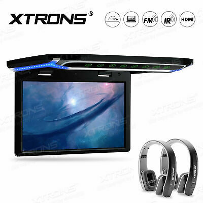 "10.2/"" LED HDMI 1080P TFT Car Roof Ceiling Flip Down Overhead Monitor USB Black"