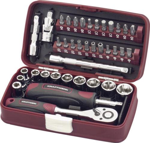 """1//4/"""" 5,5-14mm nuez caja de herramientas Kraftwerk 99073f conjunto de llave de vaso 38tlg"""