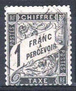 FRANCE-STAMP-TIMBRE-TAXE-N-22-034-TYPE-DUVAL-1F-NOIR-034-OBLITERE-TB-A-VOIR-P310