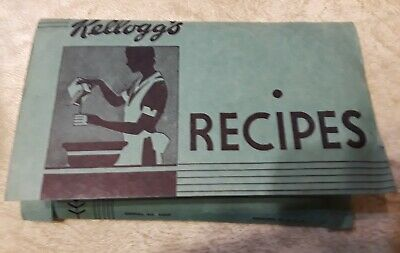 Humble Vintage Kellogg's Cereal Recipes Packet Of 25 On Card Stock Ca.1930's 1930-39 Advertising-print