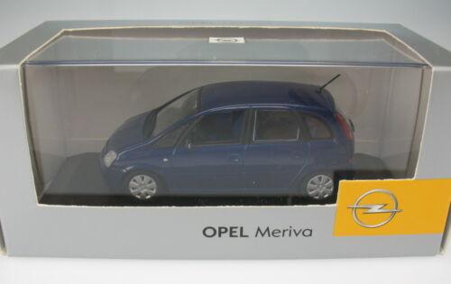 OPEL Meriva A MINICHAMPS blau metallic 1:43 NEU in OVP Modellauto Model Car