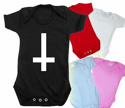 INVERTED CROSS baby grow logo OFWGKTA ODD FUTURE ROCK bodysuit t shirt indie
