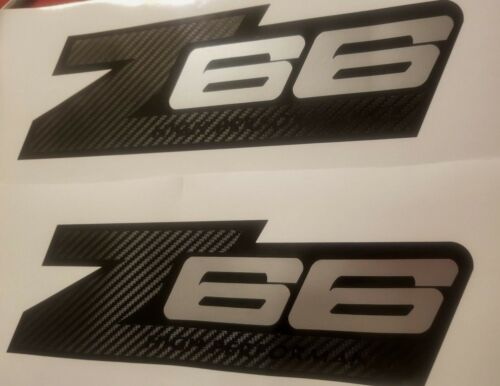 Z66 stickers decal carbono fiber High Performance chevy Set