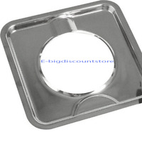 7 3/4 Square Chrome Gas Oven Stove Drip Pan Bowl Kitchen Stove Square Gas Range