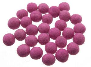 50 Perline Palle Di Feltro Naturale Ø=2.1 CM Nepal Rosa BO15