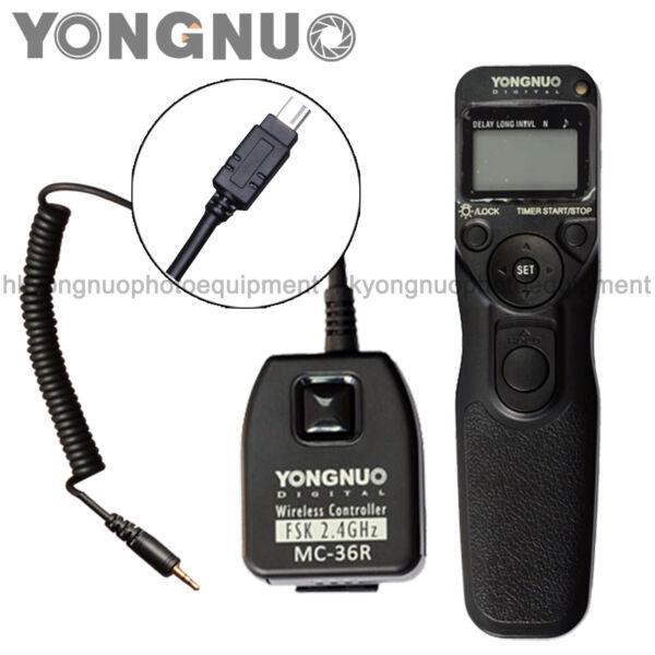 Fiable Yongnuo Minuteur Télécommande Sans Fil Mc-36r Pour Nikon D7200 D7100 D5300 D5200