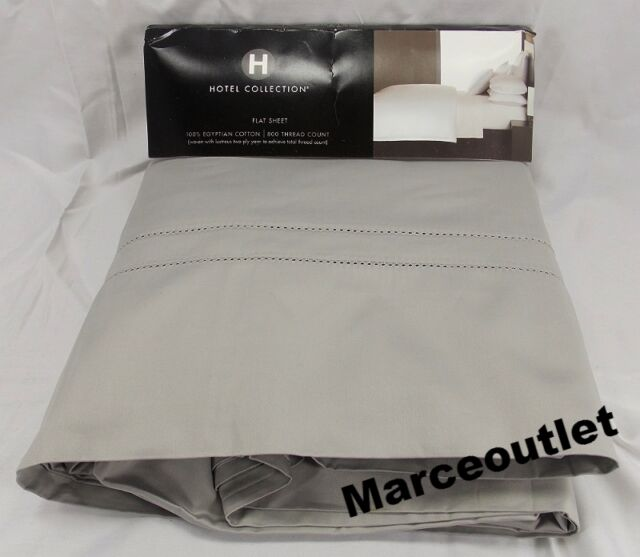 Hotel Collection 800 Thread Count 100% Egyptian Cotton KING Flat Sheet Mercury