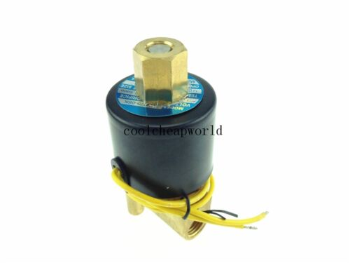 """Electric Solenoid Valve Water Air N//O 24V DC 1//4/"""" Normally Open Type"""