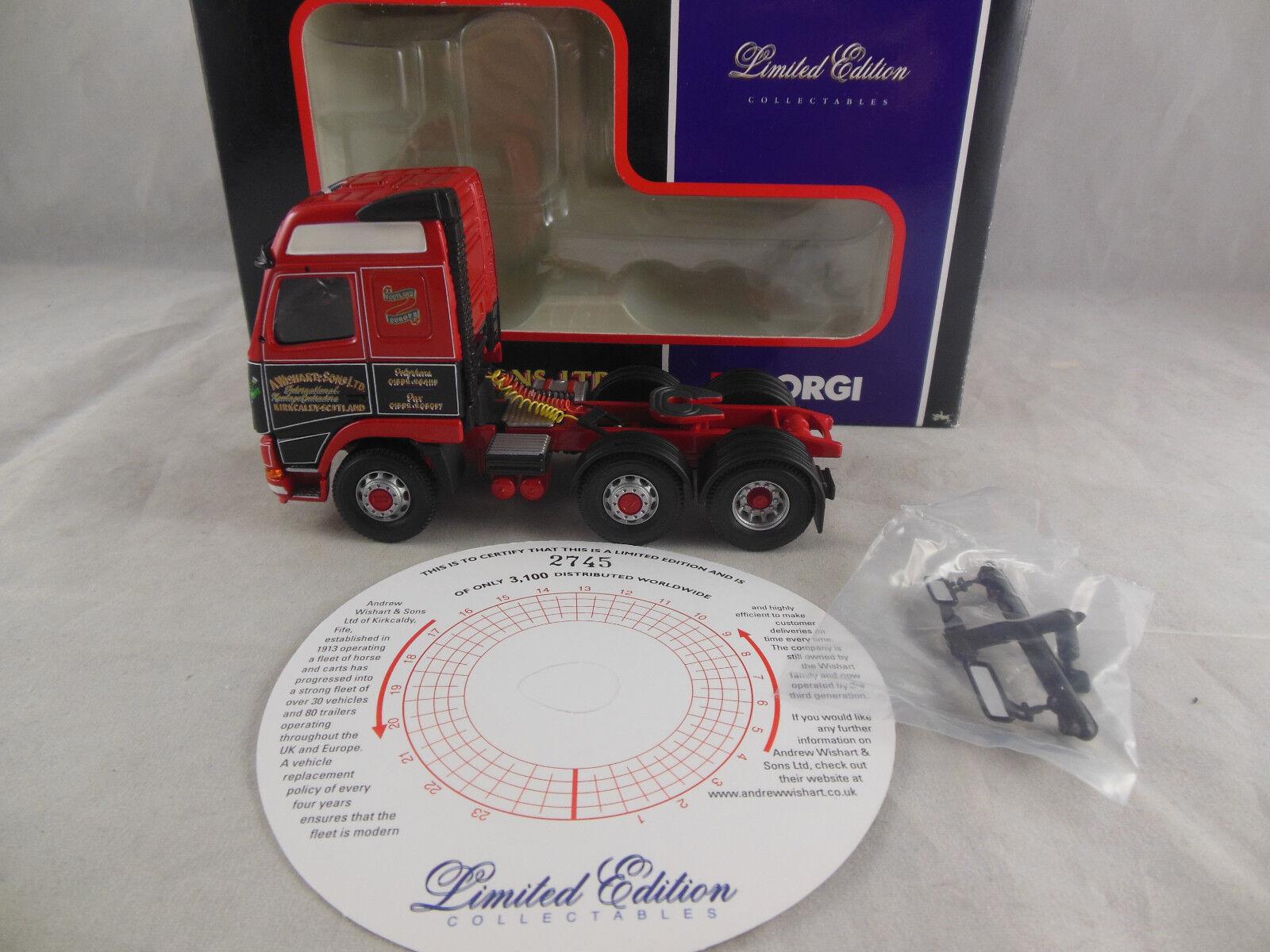 precioso Corgi CC12417 Volvo FH Globetrojoter Tractor Unidad Unidad Unidad Andrew wishhart & Sons Ltd  Ahorre 35% - 70% de descuento