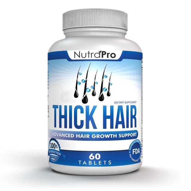 Thick Hair Growth Vitamins – Anti Loss DHT Blocker Stimulates Fast for Weak  Thin