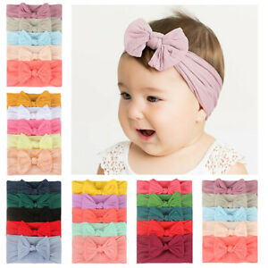 5PCS-Girls-Baby-Toddler-Turban-Headband-Hair-Band-Bow-Accessories-Headwear-AU