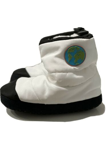 Cat /& Jack Kids Astronaut Puffy Mars Moon Boots Slipper   M 2-3   New