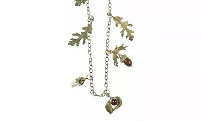 "Acorn & Oak 36"" Long Necklace By Michael Michaud #8324BZGN"