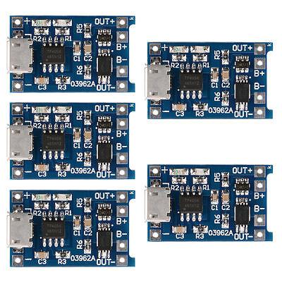 5pcs LiPo Lion Micro USB Lademodul 5V 1A 18650 Mit Schutzschaltung TP4056 TE420