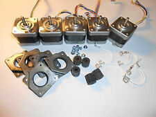 Stepper Motor Lot of 5 NEMA 17 GT3 Minebea Mill Robot RepRap Makerbot Prusa S4