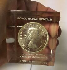 Rare Canadian One Dollar Coin 1961 Honourable Mention Imperial Bank Commerce