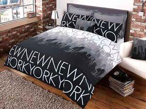 Luxus new york bettbezug set polyester baumwolle pflegeleicht