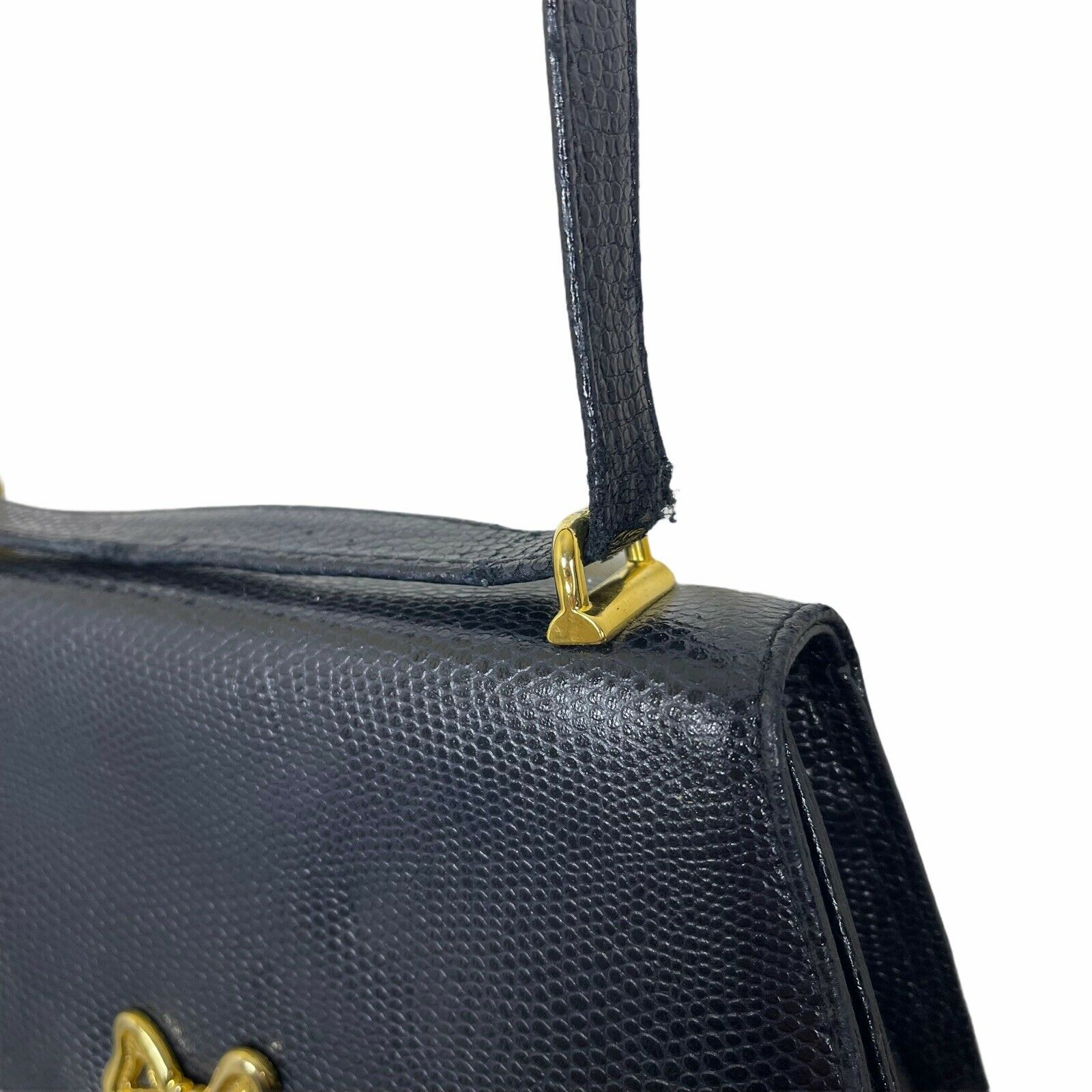 ARNOLD SCAASI NAVY LIZARD LEATHER WITH BOWS WOMEN… - image 9