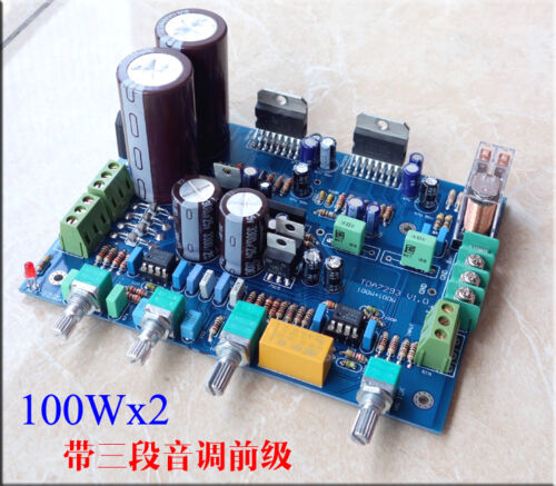 NE5532 TDA7293 Amplifier board 100W 100W with three sections of the pre-tone