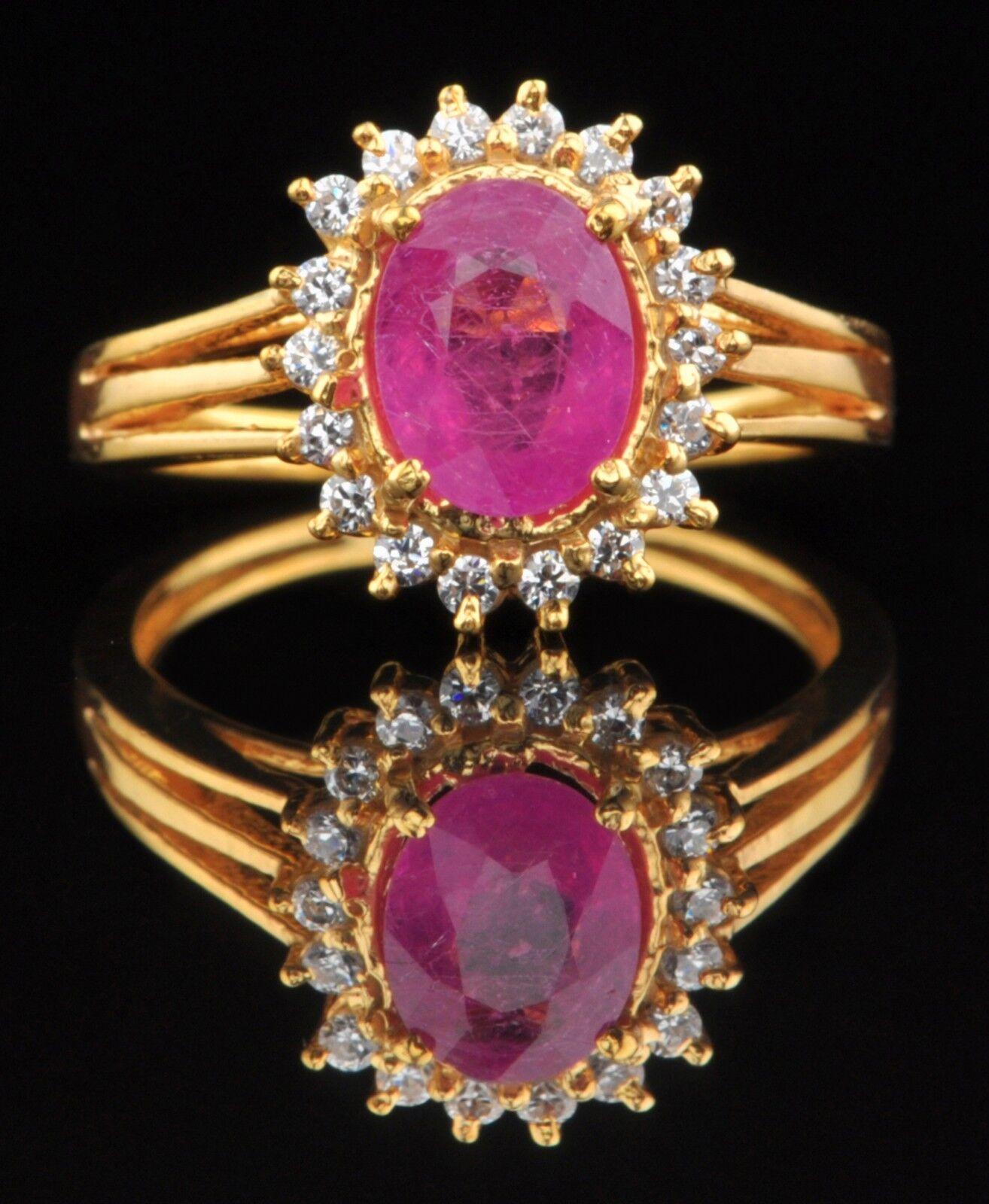 1.95 Carat 14KT Yellow gold Natural Pink Tourmaline EGL Certified Diamond Ring