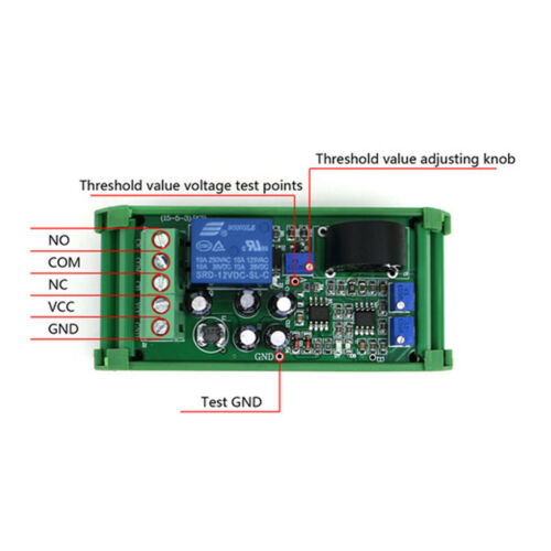 Current Sensor Module AC Detection Module 0-20A Switch Output with Base