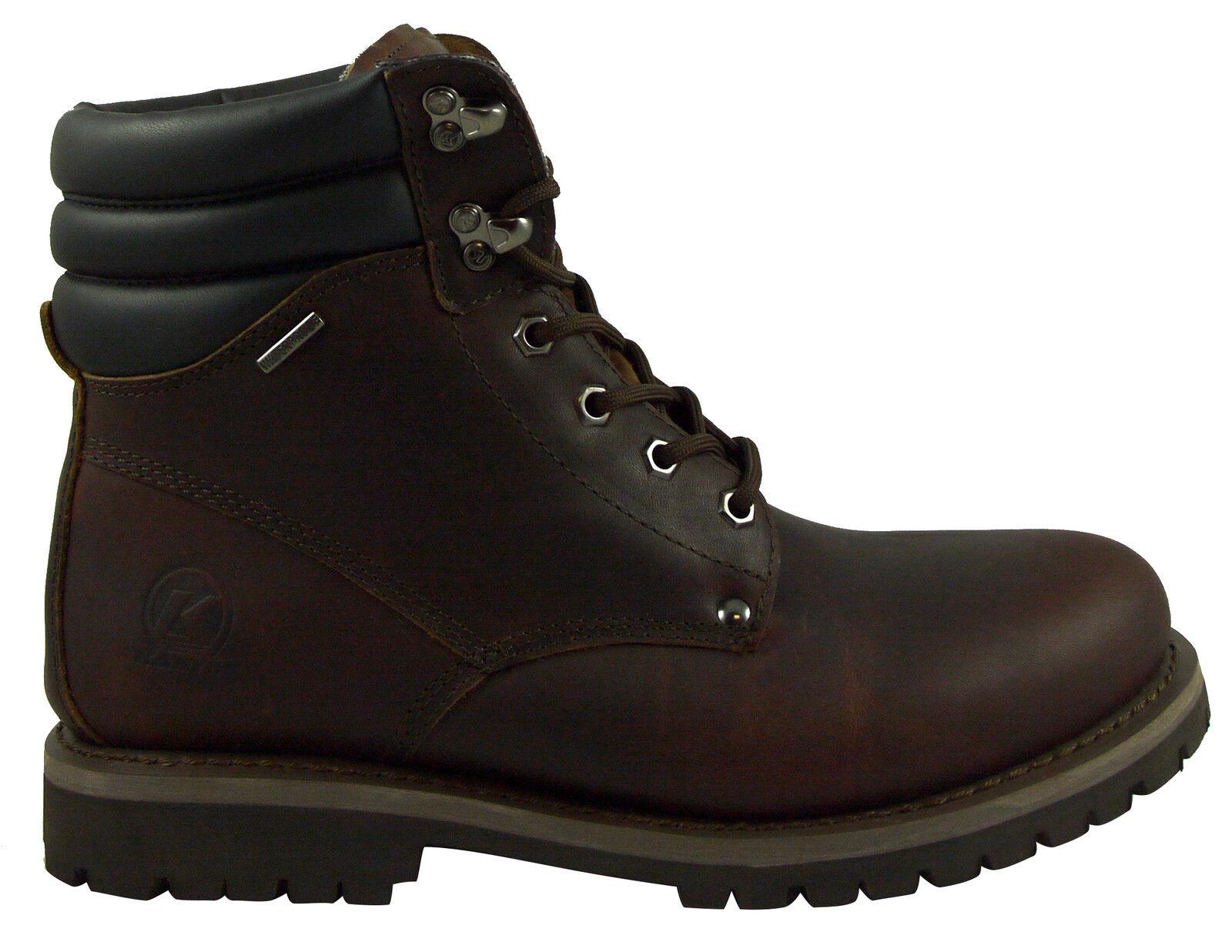 botas al tobillo para Hombre Kanyon Briar caminando patio Bota De Cuero Impermeable Suela De Goma