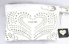 TWIN SET by Simona Barbieri Tasche Clutch Damen weiss gold Nieten NEU Orig. 150€