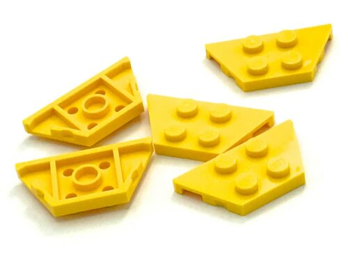 Lego 5 New Yellow Wedges Plate 2 x 4 Pieces